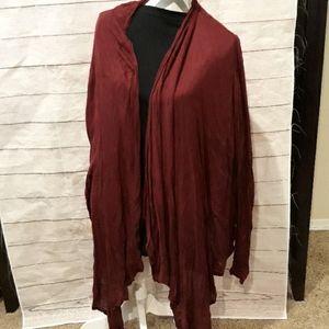 Thin maroon cardigan